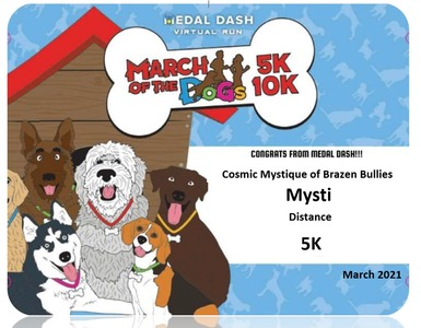 Mysti Metal Dash March of the Dogs 2021