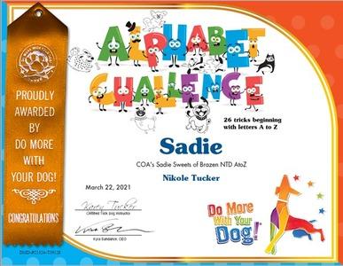 Sadie Alphabet Challenge